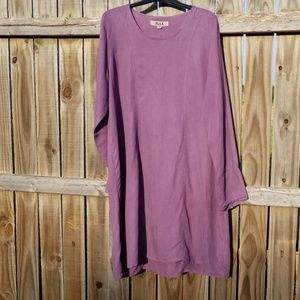 FLAX   Purple Linen Dress